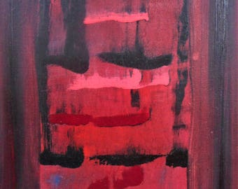 "Original Abstract Oil Painting by Nalan Laluk: ""Rear Window"""