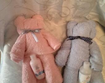 Towel teddy baby shower gift.
