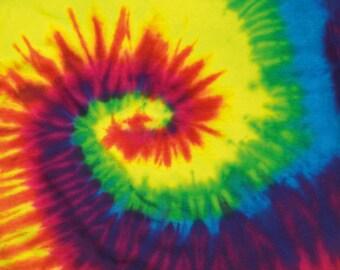 Tie Dye Spiral Hippie Festival Rainbow Swirl Tee