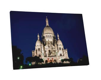 Castles and Cathedrals Paris Sacre Coeur Basilica Gallery Wrapped Canvas Print