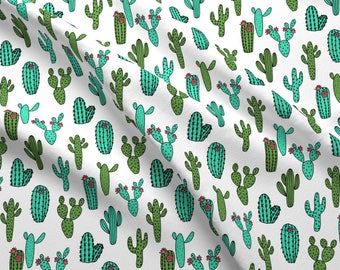 Cactus Fabric - Cactus // Cacti Southwestern Desert Fabric By Andrea Lauren- Cotton fabric by the yard with Spoonflower