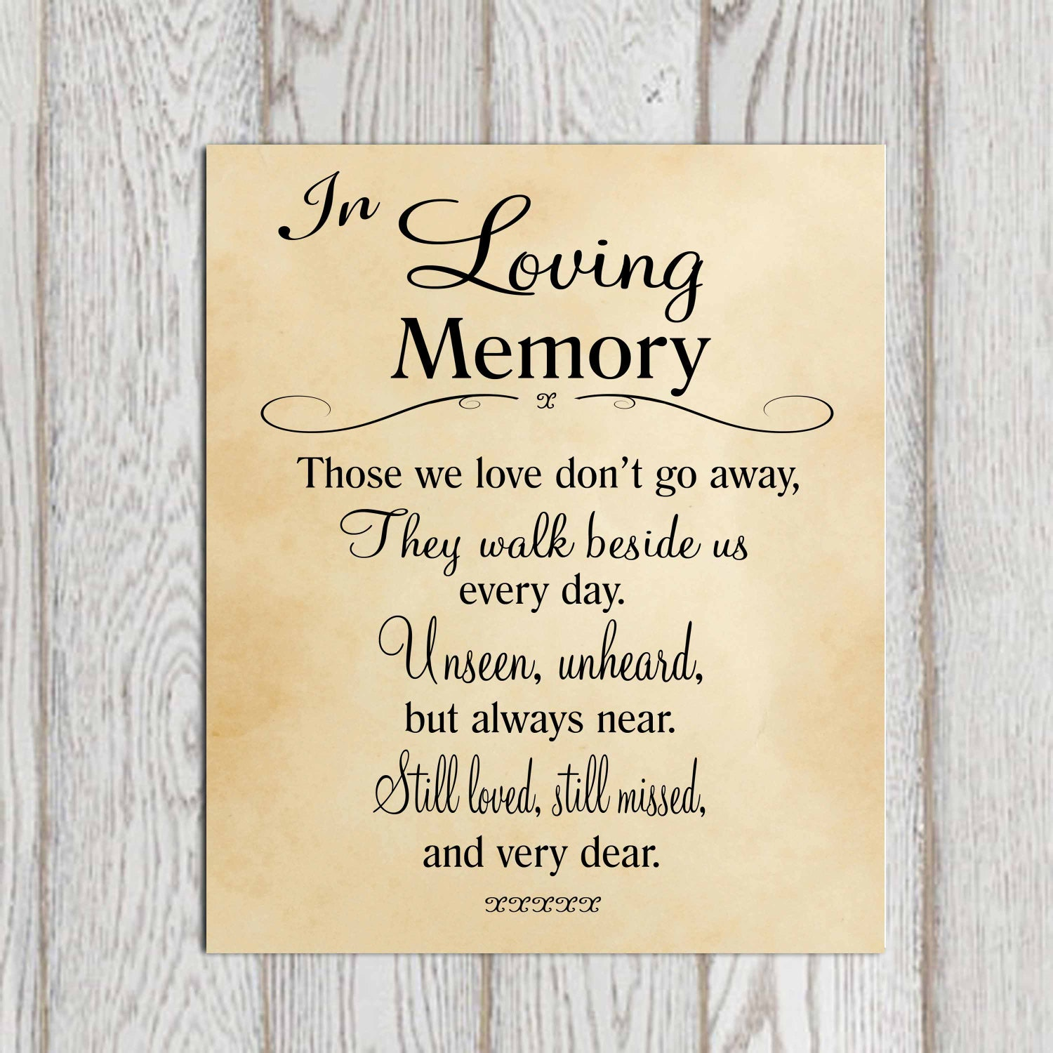 In Loving Memory Quotes In Loving Memory Printable Memorial Table Wedding Memorial