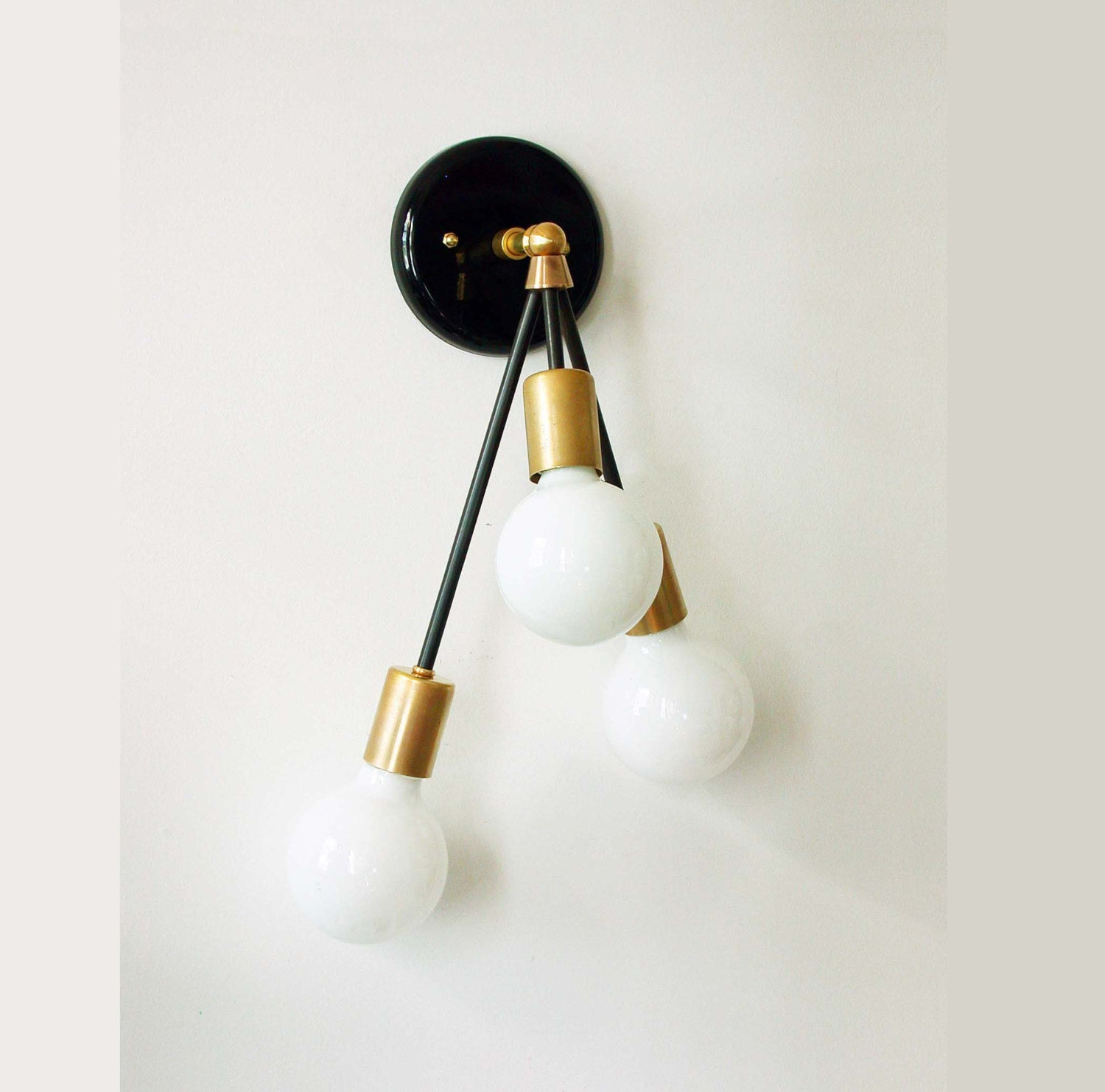 Triple wall sconce brass fixture modern sconce lamp wall zoom arubaitofo Images
