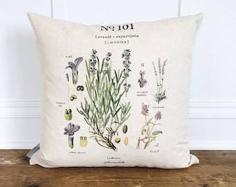 Lavendar Botanical Pillow Cover