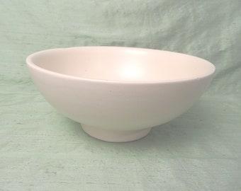 Matte white Haeger 101 pottery planter bowl / vintage mid century modern
