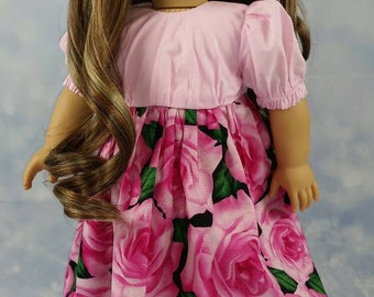 18 Inch Doll Clothes Dress Pink Floral Garden Dress for American Girl Doll
