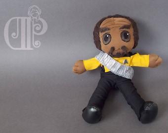 Worf Star Trek The Next Generation Plush Doll Plushie Toy [READY TO SHIP]