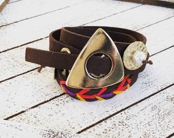 Brown leather bracelet. Brown Leather Bracelet