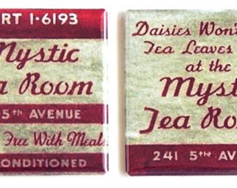 Mystic Tea Room Fridge Magnet Set