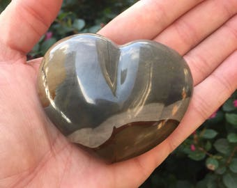 Beautiful Polychrome/Desert Jasper Puffy Heart ~ Large ~ Seekers Stone ~ Stone of Transformation