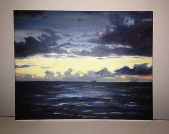 Sunset Oil Painting