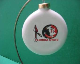 a 3 inch Florida State Seminoles ceramic hanging  ornament... awesome!!!