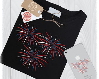 Fireworks SVG Files 4th of July PNG Clipart DXF Designs - Firecracker Svg - 4th of July Silhouette Designs - 4th of July Cricut Svg