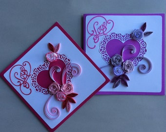 Quilled Valentines Cards