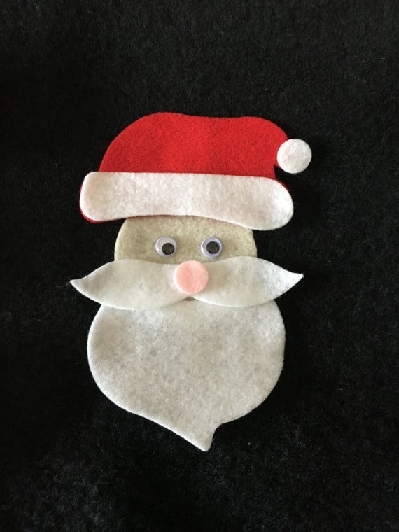 felt santa claus face kit diy santa claus crafts party decorations quiet books winter craft christmas tree ornament kit santa quilt applique from - Santa Claus Craft