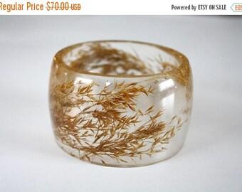 Sale 20% Rabais Common reed bangle, large bangle, botanical bangle, plant bangle, botanical bracelet, reed bracelet, nature bracelet, made i