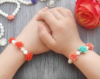 Flower girl bracelet Flower girl gift Flower girl jewelry Wedding bracelet Kids bracelet Childrens bracelet Flower bracelets baby bracelets