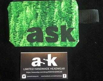 Douglas Fir Forest Zipper Wallet, Coin Purse, Fabric Wallet, Vegan Wallet, Zipper Pouch, Change Pouch, Women Wallet, Men Wallet, Small Bag