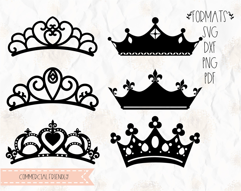 Tiara Krone Prinzessin Geburtstag SVG PNG DXF-format