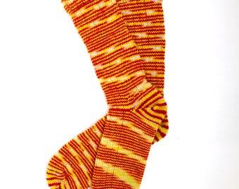 Handmade Wool Socks 426 -- Women's Size 10-12 or Men's Size 8-10