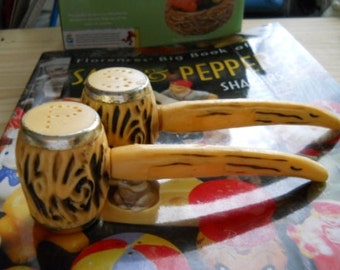 Vintage Corn Cob Pipes Salt and Pepper Shakers