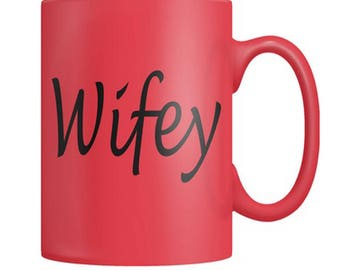 Wifey Coffee Mug- valentine's day gift, gifts for her, coffee lover, gift ideas, couples coffee mug, gifts for wife, white coffee cup