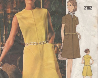 Bust 36-1960's Misses' Dress Vogue Couturier Design Galitzine of Italy 2162 Size 14