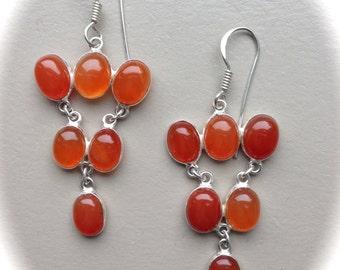 Sterling Silver Carnelian Earrings