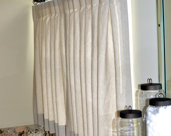 Incroyable Pinch Pleat Cafe Curtains For Bathroom Made To Order