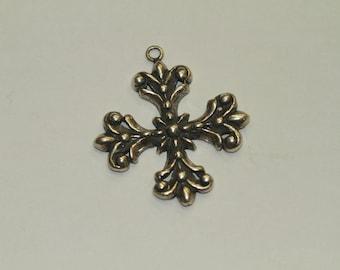Sterling Silver Cross Buttony