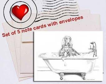 Big Date, Irish Setter Note Card Set