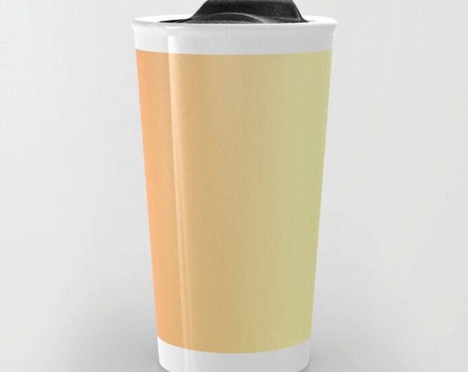 Orange Travel Mug - Orange to Yellow Ombre - Yellow Travel Coffee Travel Mug - Hot or Cold Travel Mug - 12oz Travel Mug - Made to Order