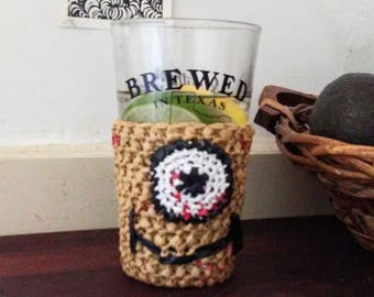 Cup cozy: crochet cup cozy, beer cozy, can cozy, can cooler