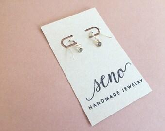 Swarovski channel stones earrings