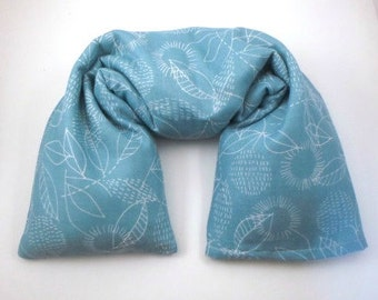 Microwave Neck Wrap with washable cover made with GOT Organic Cotton fabric - Flax seed heating pad - Mother's Day gift