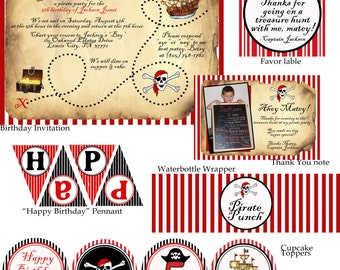 Ahoy Matey Pirate Birthday Party Pack