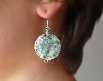 African Turquoise Jasper. African Turquoise earrings. Jasper earrings.