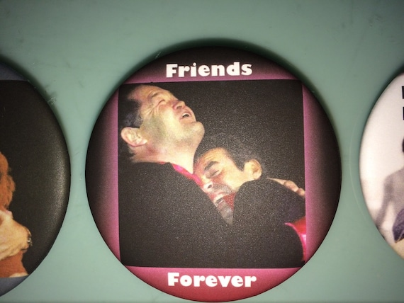 BUTTON - Davy's Angels Micky Dolenz Friends Forever Button
