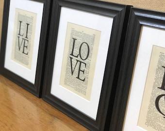 Live Laugh Love | Home Decor | Housewarming Gift | Wedding Gift | Gift | Newlywed Gift | Gift For Newlyweds | Wall Decor |