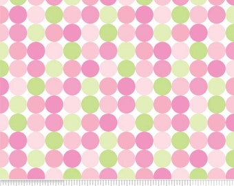 "Sweet Dots Pink--""Sweet Baby Girl"" by Doodlebug Designs--One Yard- Riley Blake"