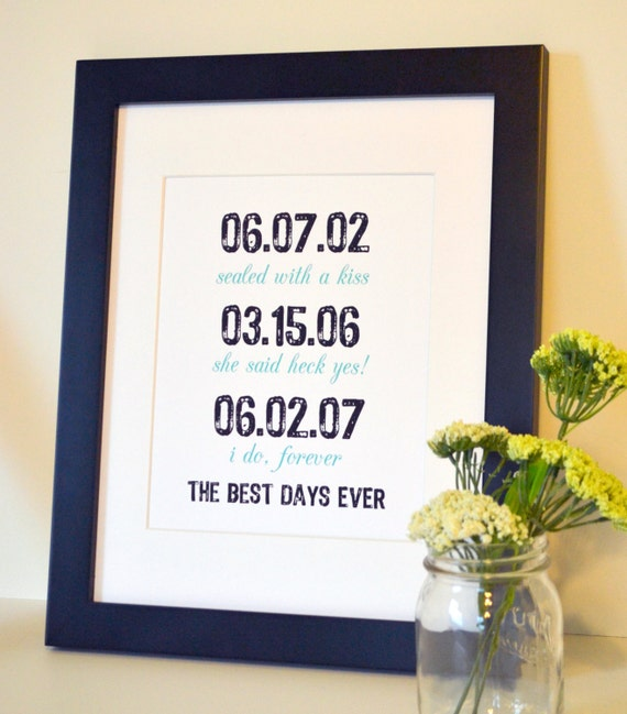 Best First Wedding Anniversary Gift For Wife: Items Similar To The Best Days Ever Art 8x10 First