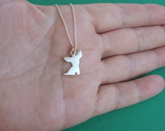 Chihuahua Necklace Dog Necklace sterling silver Chihuahua pendant Dog charm Kid Teen Jewelry Women Pet Jewelry charm Birthday gift