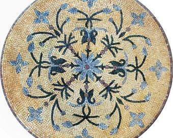 Round Floral Mosaic - Mandy