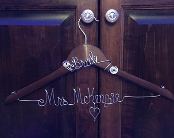 Personalized Wire Hanger / Dress Hanger / Wire Name Hanger