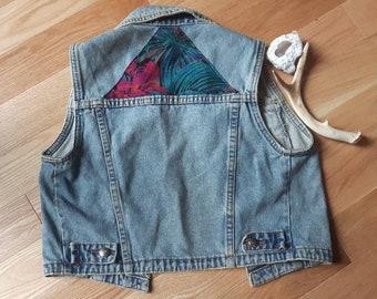 Vintage Upcycled Denim Vest