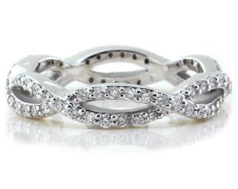 Diamond Infinity Eternity Band  Ring Name Allure