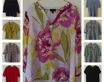 Lot of Extra Large Women's New to Vintage Blouses and Jackets