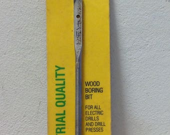 """IRWIN Speedbor 2000 Wood Boring 88804 drill bit 1/4"""" inch Made in USE 1990 sealed tool for electric drill & presses Industrial Quality"""