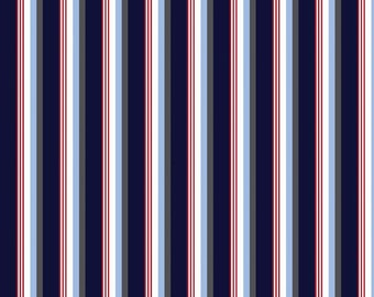 """Fat Quarter Only (18""""x22"""") of Sporty Blue Stripes from Riley Blake"""