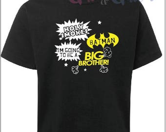 BATMAN going to be a BIG BROTHER T-Shirt Boys Pregnancy Announcement Tee